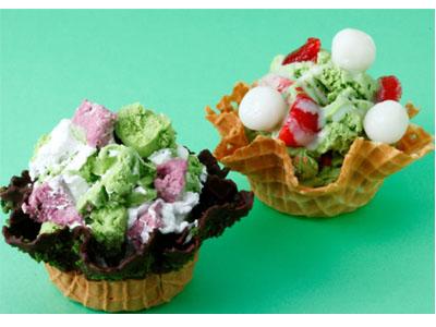 コールドストーンに3/30(金)~新茶の季節にグリーンティーアイスクリームの新商品