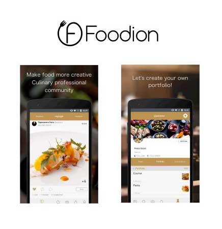 料理⼈・シェフとつながれる、⾷の SNS アプリ「Foodion(フージョン)」 Android 版の世界対応開始で ...