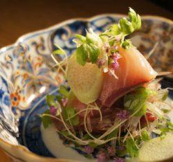 神楽坂の懐石料理店、NYで約20年にわたり 腕をふるってきた料理長が考案した キュイジーヌコース(全9品 ...