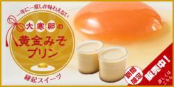 1年に1度の縁起物スイーツ『大寒卵の黄金みそプリン』 明治5年創業の味噌蔵から期間限定発売!